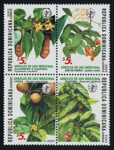 Dominican Republic 1396 MNH Medicinal Plants, Flowers