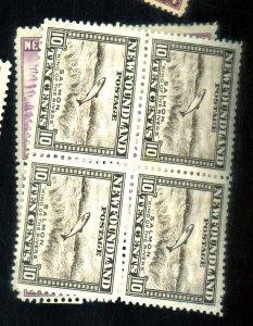 NEWFOUNDLAND #191 193 MINT BLOCKS F-VF OG NH Cat $10