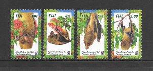 FIJI - #797-800 FRUIT BATS  WWF   MNH