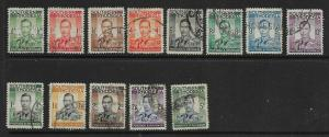 SOUTHERN RHODESIA SG40/52 1937 DEFINITIVE SET USED