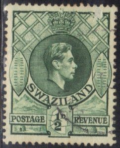 SWAZILAND SC# 27 MNH  1/2p 1938 SMALL ERROR IN UPPER RIGHT CORNER  SEE SCAN