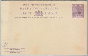 65806 - BARBADOS -   POSTAL STATIONERY DOUBLE CARD # 5 overprinted SPECIMEN