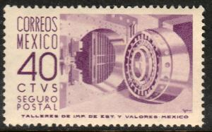 MEXICO G16, 40cents 1950 INSURED LETTER, wmk 300. MINT, NH. F-VF.