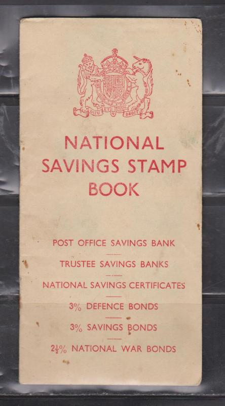 GREAT BRITAIN - National Savings Stamp Booklet With Stamps - 1 Page Missing