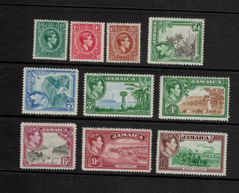 Jamaica Scott #116 To 125, Mint Never Hinged MNH, Definitives Issue From 1938...