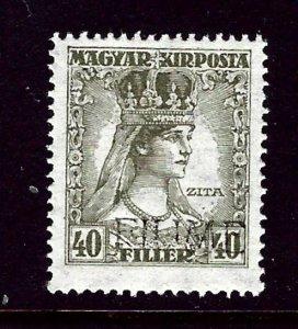 Fiume 23a MNH 1918 issue  light Overprint    (ap3373)