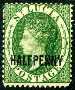HERRICKSTAMP ST. LUCIA Sc.# 15 Mint Hinged Scott Retail $85.00