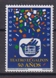 Uruguay 1999 The 50th Anniversary of the El Galpon Theatre  (MNH)  - Theater