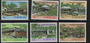 Tokelau  126-131 (6) SET, HINGED, 1986 Hospitals and schools