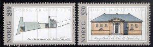 Norway Scott 1296-1297 MNH** 2001 Architecture stamp set