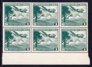 Chile - Scott #C207 - Block/6 - MNH - SCV $5.10