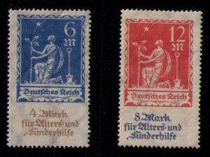 Germany 1922 MLH Deutsches Reich Set Michel 233( 6M + 4M) and Michel 234 VF