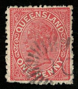 Queen Victoria, 1882-1883, Watermark, Queensland, 1 penny (3956-T)