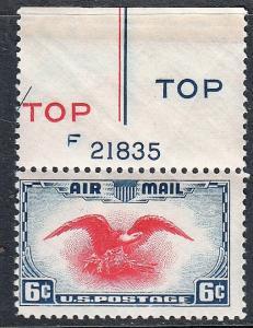 US Air Mail #C23 Center Line Single MNH