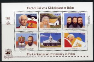 Palau 288 MNH Christianity in Palau, Pope John Paul II, Church, Pope Leo XIII