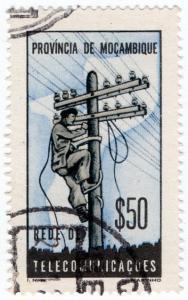 (I.B) Portugal Colonial Telegraphs : Mozambique $50