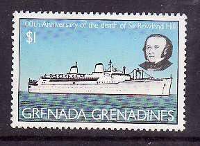 Grenada Grenadines-Sc#329-unused NH ship-Transportation-Ocean Liner-1979-