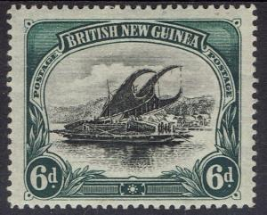 PAPUA 1901 LAKATOI BRITISH NEW GUINEA 6D HORIZONTAL WMK