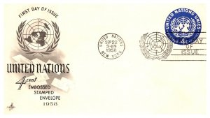 United Nations, New York, Worldwide First Day Cover, Postal Stationary