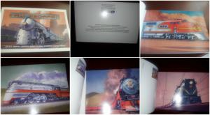 O) 1998 UNITED STATES, 20 TRAINING POSTAL CARDS,   ALL ABOARD HIGH CEILING TRAIN