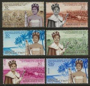 Haiti 1960 Sugar Queen Set #458-461, C161-C162 VF-NH CV $6.20