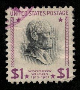 USA, 1938-1954, Woodrow Wilson 1913-1921, $1 (TS-280)