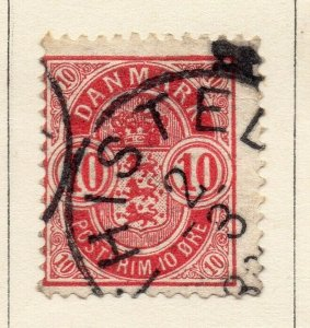 Denmark 1875 Early Issue Fine Used 10ore. NW-113851