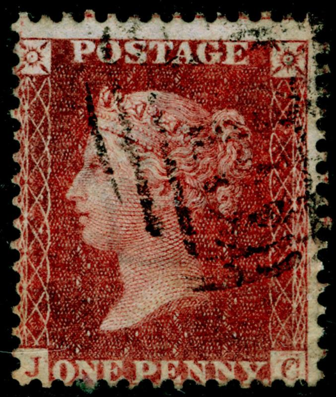 SG41, 1d dp rose-red, LC14, FINE USED. Cat £20. JC