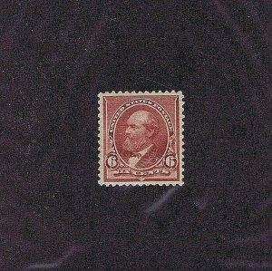 SC# 224 UNUSED ORIGINAL GUM MNH 6 CENT GARFIELD 1890, 2019 PSAG CERT GRADED 85
