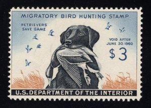 U.S. # RW26 Duck Stamp - $3.00 Multicolor - Mint - O.G. - N.H. - Cat:$130.00