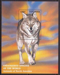 Tanzania, Fauna, Animals, Gray Wolf MNH / 1997