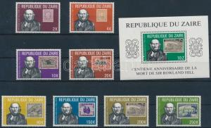 Congo (Zaire) stamp Rowland Hill set + block 1980 MNH MI 631-638+ Mi 32 WS187317
