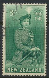 New Zealand SG 734 SC# 299 Used  see details 1953 QE II  Definitive Issue