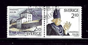 Sweden 1642a Used 1987 Pair