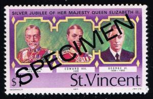 St. Vincent #493 English Monarchs; MNH SPECIMEN Overprint