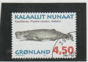 Greenland  Scott#  306  Used  (1996 Sperm Whale)