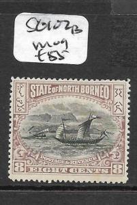 NORTH BORNEO (P2803B)  8C BOAT SG 102B  MOG