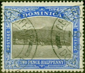 Dominica 1907 2 1/2d Grey & Bright Blue SG40 Fine Used