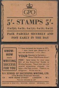 H17n Jan 1956 5/- Booklet ETEETT