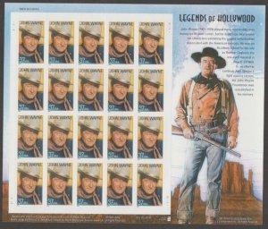 U.S. Scott #3876 Legends of Hollywood Stamp - UL Plate Position - Mint NH Sheet