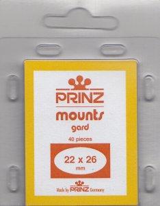 PRINZ 22X26 (40) CLEAR MOUNTS RETAIL PRICE $3.99