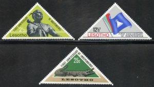 Lesotho Scott 41-43 MVFNHOG - 1st Annv. of Independence - SCV $1.65