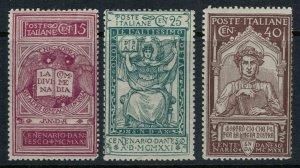 Italy #133-5* CV $19.50