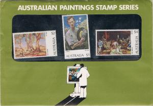AUSTRALIA 1973 - 74 PAINTINGS STAMP PACK