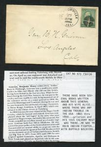 Us Jacksonville, Il 8/24/1889 2c Silencio Cancelado Funda de los Ángeles,