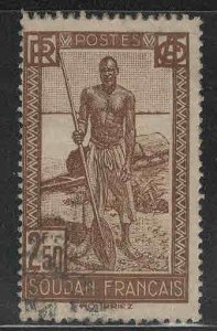 French Sudan Scott 97 Used stamp from 1931-1940 set