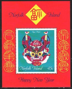 Norfolk. 1998. bl22. Dragon Year, Chinese New Year. MNH.