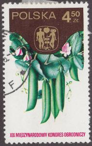 Poland 2054 USED 1974 Peas & Congress Emblem 4.50zł