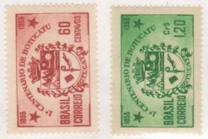 Brazil Scott #820-21, Mint, Centenary of the City of Botucatu, From 1955 - Fr...
