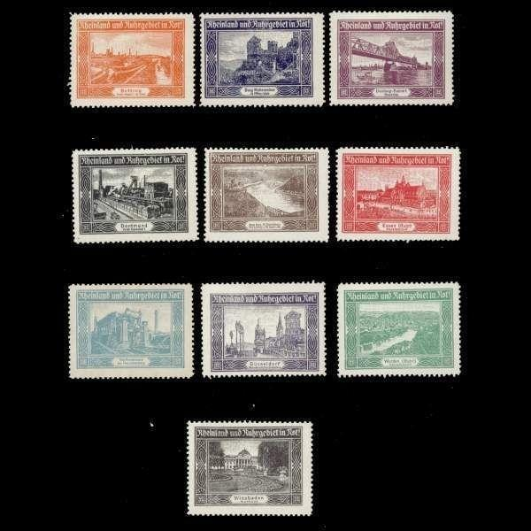 Germany - Rhineland and Ruhr in Distress! Poster Stamps
